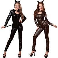Halloween Costumes Adult Womens Animal Costumes Deluxe Leopard Catwoman Cat Costumes Fancy Dress Cosplay Costume For