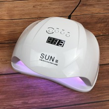 High Power 54W Nail Lamp SUN X LED UV Lamp Nail Polish Gel Varnish White Light Nail Dryer Lamp Machicure With Infrared Sensor professional 9w 100 240v led light lamp gel nail polish nail dryer