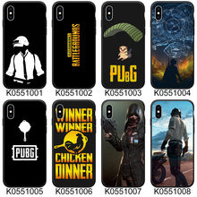 Winner PUGB Black Soft TPU Phone Case For iPhone 8 7 Plus XS Max XR Case Fundas Coque Cover For iPhone 6 6s X 5S SE Case цена и фото