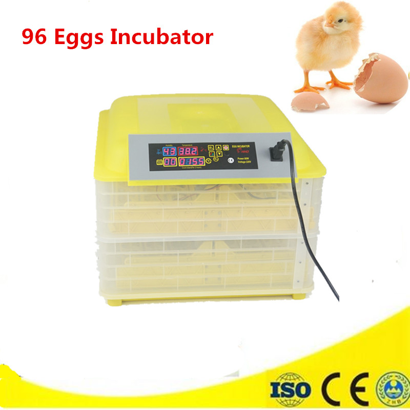 цена Full Automatic Digital Temperature Control chicken egg incubator 96 Eggs industrial incubator selling cheap incubator