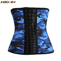 HEXIN 9 Steel Bones Latex Body Waist Trainer Smoothing Camouflage Waist Cincher Corset Women Shapewear Waist Body Shaper