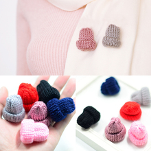1PC Hot Colorful Cute Mini Woollen Hat Brooch DIY Breastpin Clothes Decoration 6Colors Fashion Jewelry