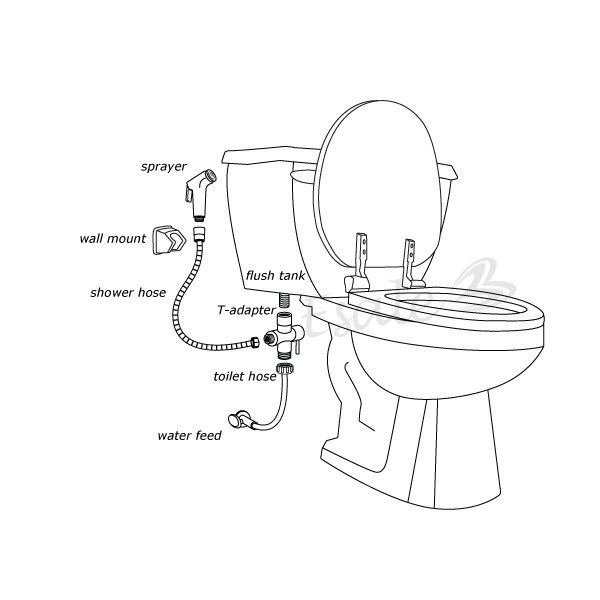 Bidet faucet mixer pet toilet bathroom sprayer set-in Bidet Faucets ...