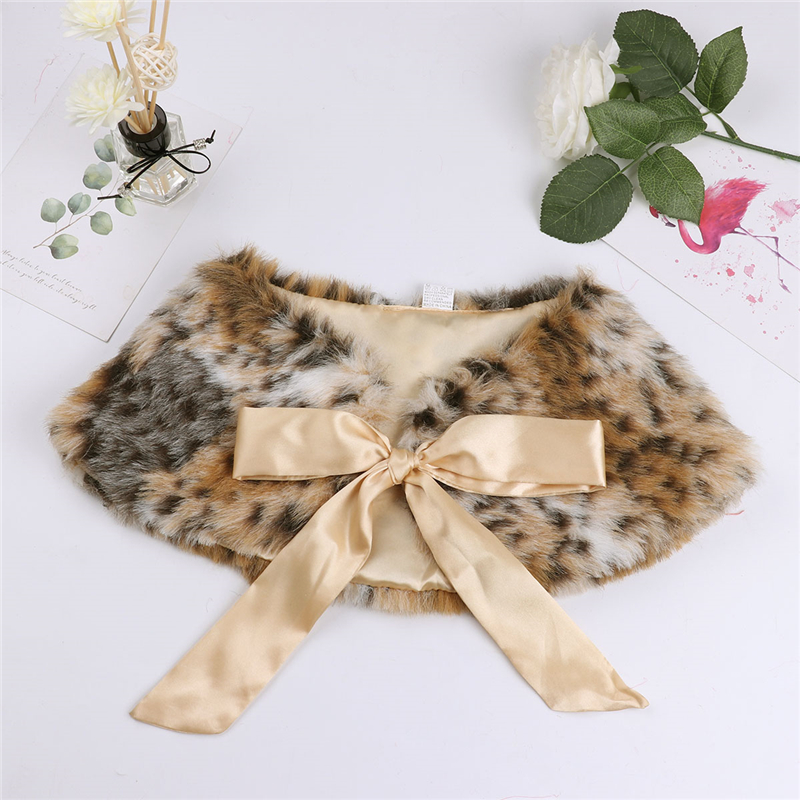 05ba72deef 3-6Y Leopard Toddler Girls Kids Faux Fur Bolero Shrug Warm Jacket Cloak  Princess Weeding