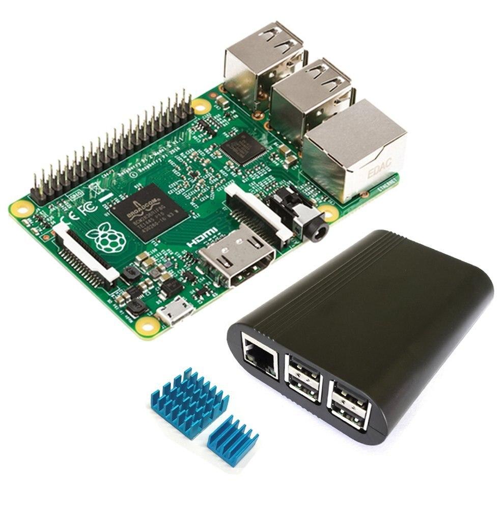 Raspberry Pi 2 Modèle B + Boitier (Noir Mince Édition) Cas + Radiateur Type UN Starter Kit
