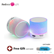 mini LED Bluetooth speaker portable wireless Hand-free music speaker with TF USB FM subwoofer mic Bluetooth speaker for mobile p