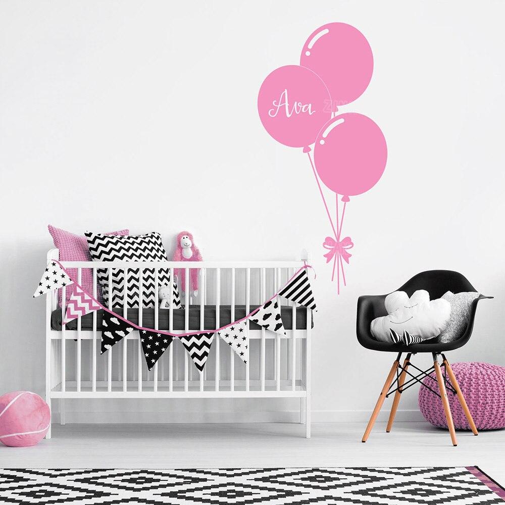Entzückend Wandtattoo Mit Namen Das Beste Von Benutzerdefinierte Name Personalisieren Wandtattoos Ballon Baby Mädchen