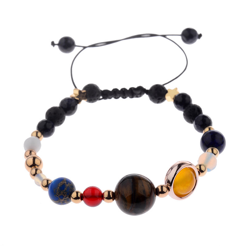 Jewelry Sets & More Jewelry & Accessories Women Exquisite Galaxy Eight Planets Solar System Stars Round Bead Chain Gold Silver Pendant Anklet Set Fashion Jewelry