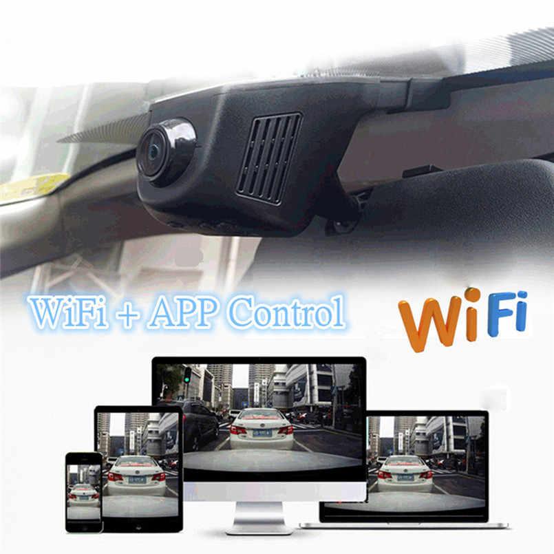 Новинка 2018, Автомобильный видеорегистратор, мини, Wifi, автомобильная камера, Full HD 1080 P, видеорегистратор, видеорегистратор, видеокамера, двойной объектив, Dvr, управление приложением #