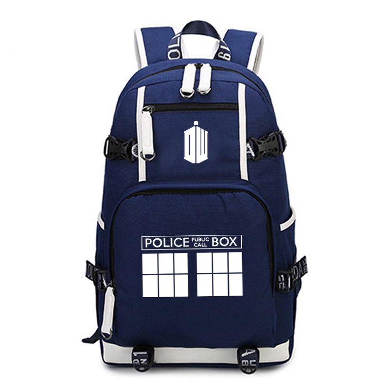 Doctor Who Backpack Daily School Bags for Teenagers Laptop Backpack Boys Girls Travel Rucksack Large Capacity Backpack