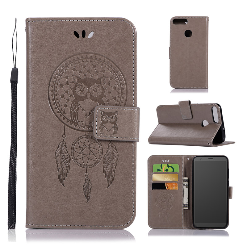 For Asus Zenfone Max Plus (M1) ZB570TL Case Emboss Dreamcatcher Wallet Leather Case For Zenfone Max Plus ZB570TL Flip Cover Case