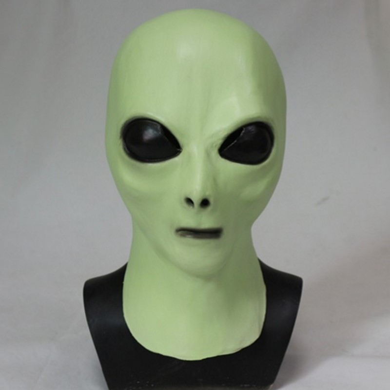 Halloween Party Cosplay Latex Soft Pointed Prosthetic Alien Costume Glow In the Night Mask