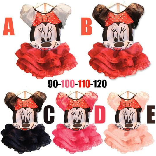 Girls Cartoon Mickey Minnie mouse Dress For Party Kid Clothing Baby Children Wear Fashion Summer Girl Lovely T shirt+Dress brand fashion kids summer slim top mickey kid t shirt minnie mouse boys clothes shirts cotton short sleeve tee shirt