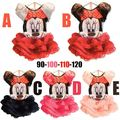Girls Cartoon Mickey Minnie mouse Dress For Party Kid Clothing Baby Children Wear Fashion Summer Girl Lovely T shirt+Dress