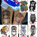 1 Sheet Big Body Paint Art Tattoo Waterproof Large Tattoo Stickers For Women Body Art Removable Tattoos 21x15cm