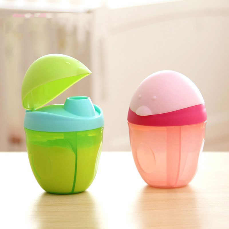 Safe Formula Dispenser Rushed Baby Food Container Candy Fruit Food Storage Cartoon Frog Milk Powder Box Snack Cup