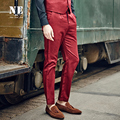NE Brand Men Clothing2016 high quality mens formal wedding suit pants trousers pleated slim fit office business pants plus size