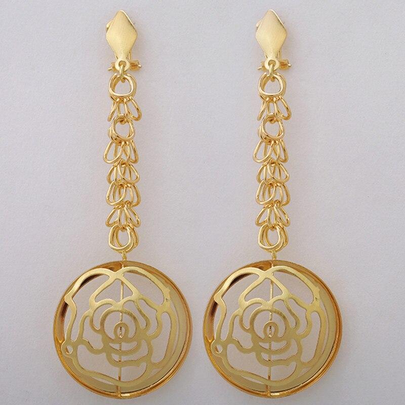2017 new exquisite dubai jewelry set fashion gold color