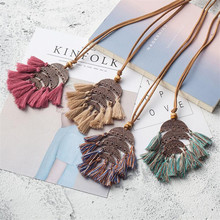 New Fashion Boho Sweater Chain Necklace Women Tassel Alloy Long Pendants for Women Jewelry Gift Femme Necklaces For Women Pink graceful rhinestone alloy sweater chain for women