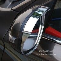 Für Mitsubishi Outlander 2013 zu 2018 Rückspiegel Regen Augenbrauen Abdeckung Tür Side Rückspiegel Protector Auto Zubehör-in Chrom-Styling aus Kraftfahrzeuge und Motorräder bei