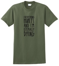 Fashion T Shirts Men'S 100% Cotton Crew Neck Short Sleeve  I'M Literally Dying Tee literally
