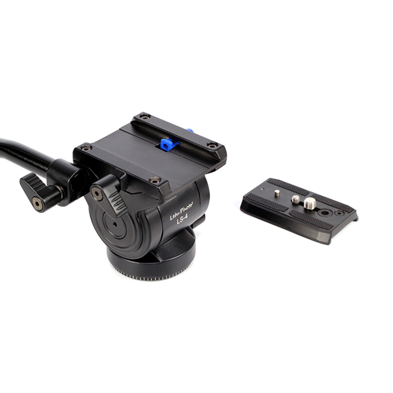 XILETU LS 4 Handgrip Video Photo Studio Kit Fluid Drag Hydraulic Tripod Head and Quick Release Plate For ARCA SWISS Manfrotto-in Tripod Heads from Consumer Electronics    2