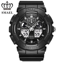 SMAEL Dual Display Electronic Mens Watch G Sport Military S Shock Analog Digital Quartz Wrist Watches
