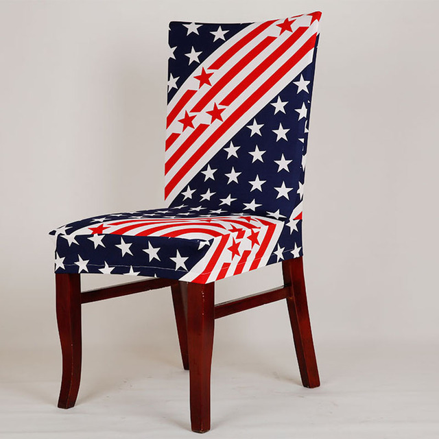 Spandex Polyester Chair Cover Stretch American Flag Sofa Cover Elastic  Stoel Sokken