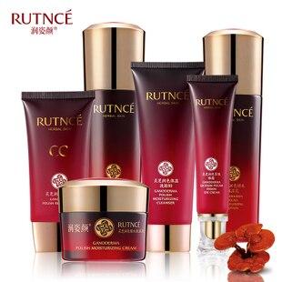 Ganoderma conjunto de cuidados da pele 6 pcs Face Cream 50 g + limpador 120 g + creme para os olhos 35 ml + BB Cream 40 ml + Toner 130 ml + essência loção 80 ml
