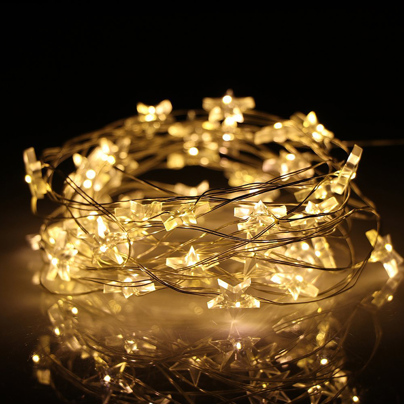 2M 3M Star LED String Lights Ramadan Decoration Festival Led Lights Decoration Garland Light LED Starry Fairy Lights Christmas