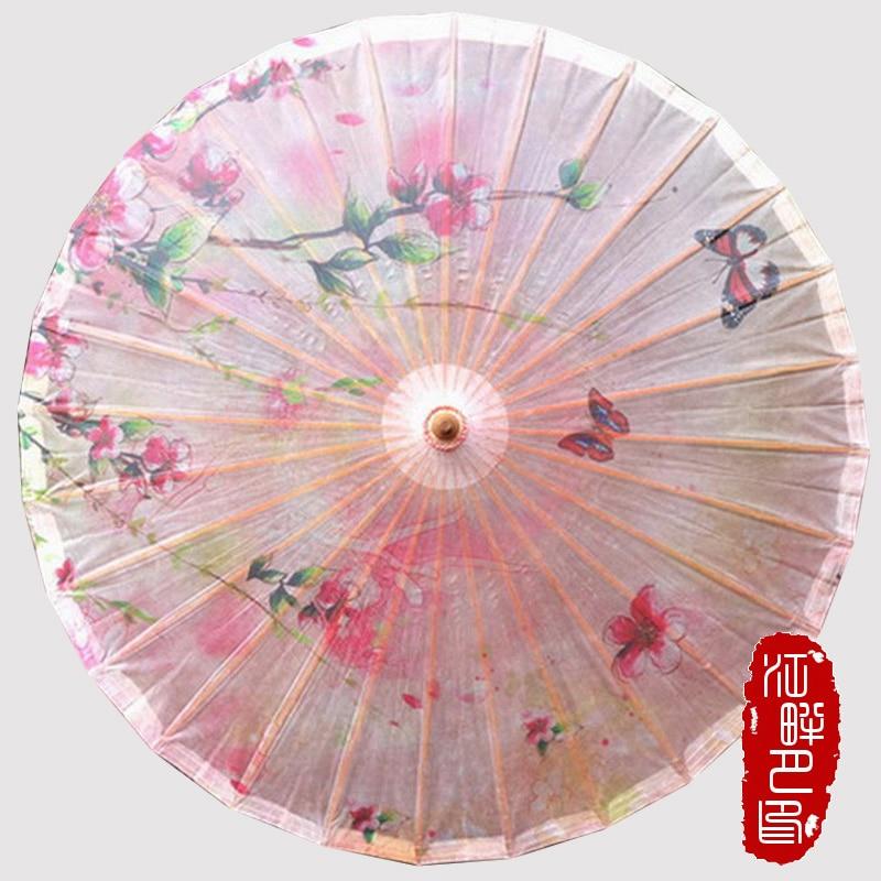 Růžová barva série broskev květ olejový papír deštník jarní - Výrobky pro domácnost
