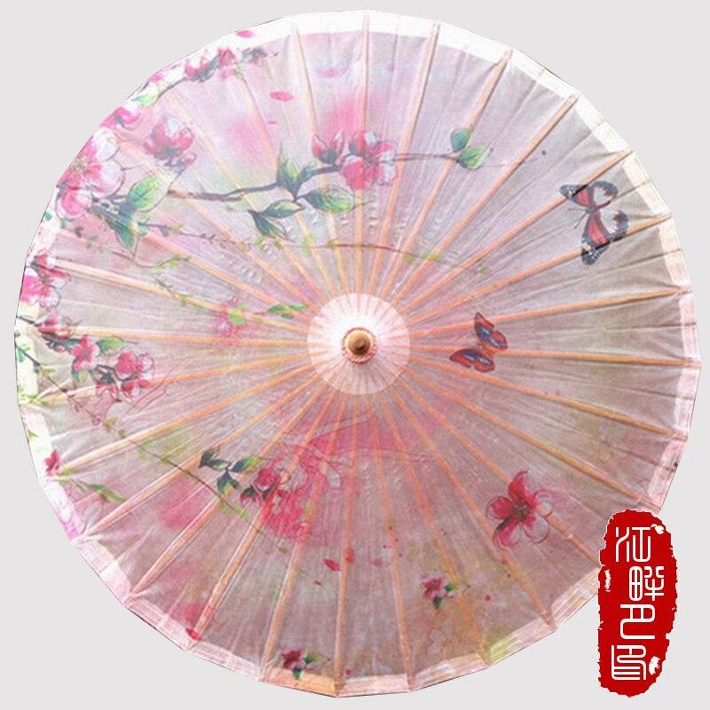Rosa farbe serie pfirsich blume öl papier regenschirm frühling - Haushaltswaren - Foto 1