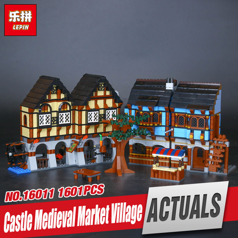 Lepin 16011 1601Pcs Castle Series The Medieval Manor Castle Set 10193 Educational Building Blocks Bricks Model Toys Gift ynynoo lepin 02043 stucke city series airport terminal modell bausteine set ziegel spielzeug fur kinder geschenk junge spielzeug