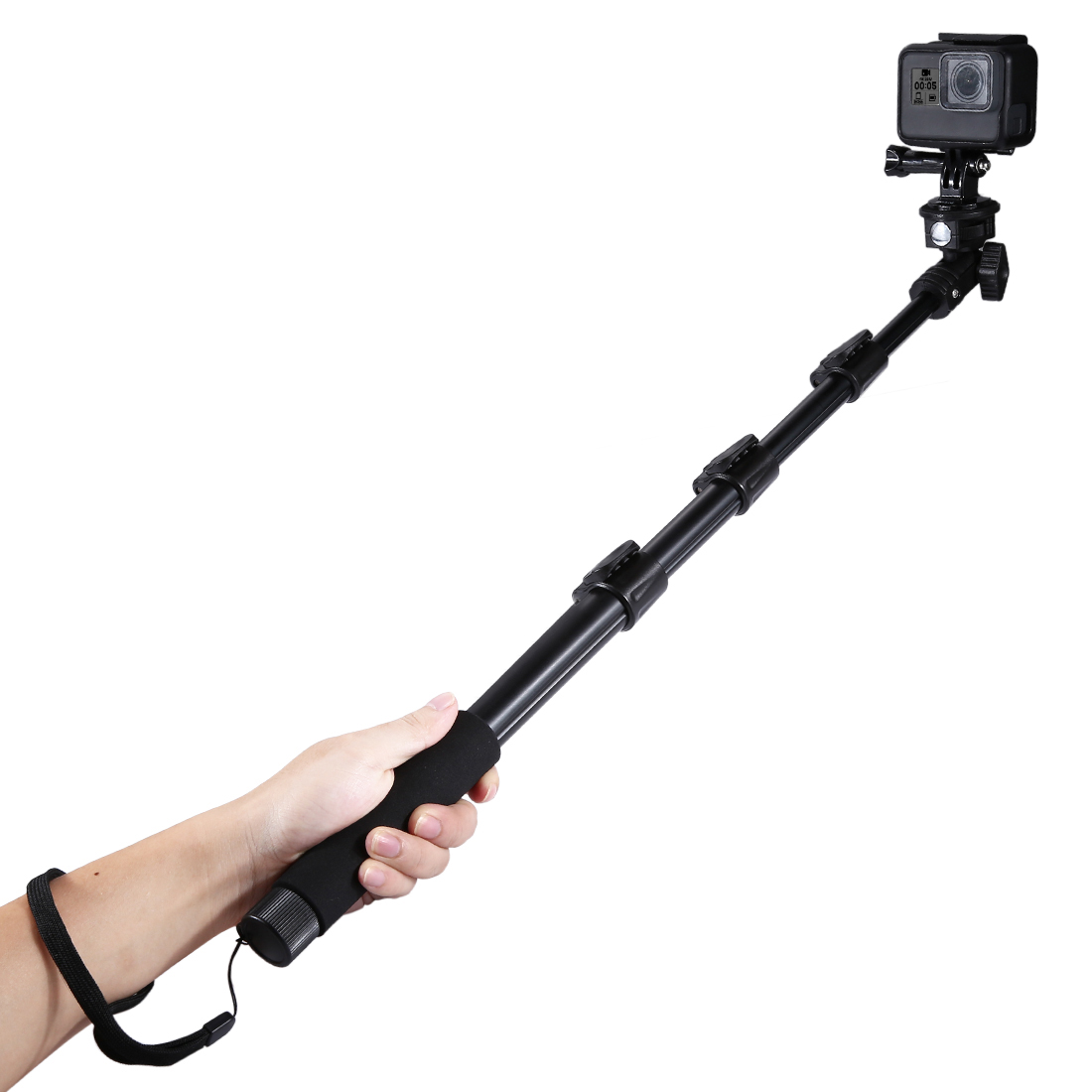 Aluminum Alloy Extendable Adjustable Handheld Selfie Stick Monopod For Gopro Mobile Phone Smartphones image