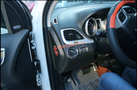 Interior Chrome Dashbord Upper Air vent + Head Light Switch Button Cover Trim for Dodge Journey 2009 2010 2011 2012 2013 2014