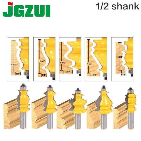 Cortador de Madeira Cortador para Ferramentas de Madeira Embalagem Base Moldagem Roteador Conjunto-1 – 2 12mm Haste Linha Faca Tenon 5 Bit &