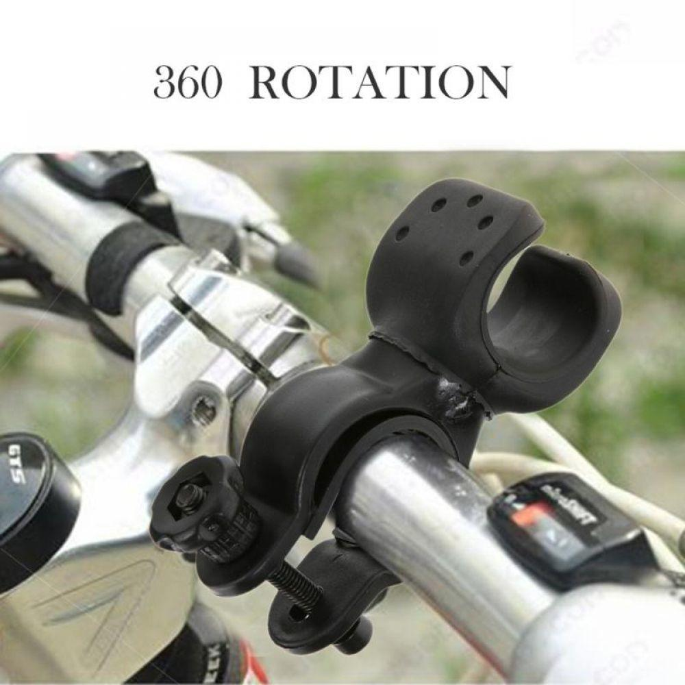 Bicycle Lamp Torch Holder Headlamp Flashlight Bracket Torch Parts Plastic Black
