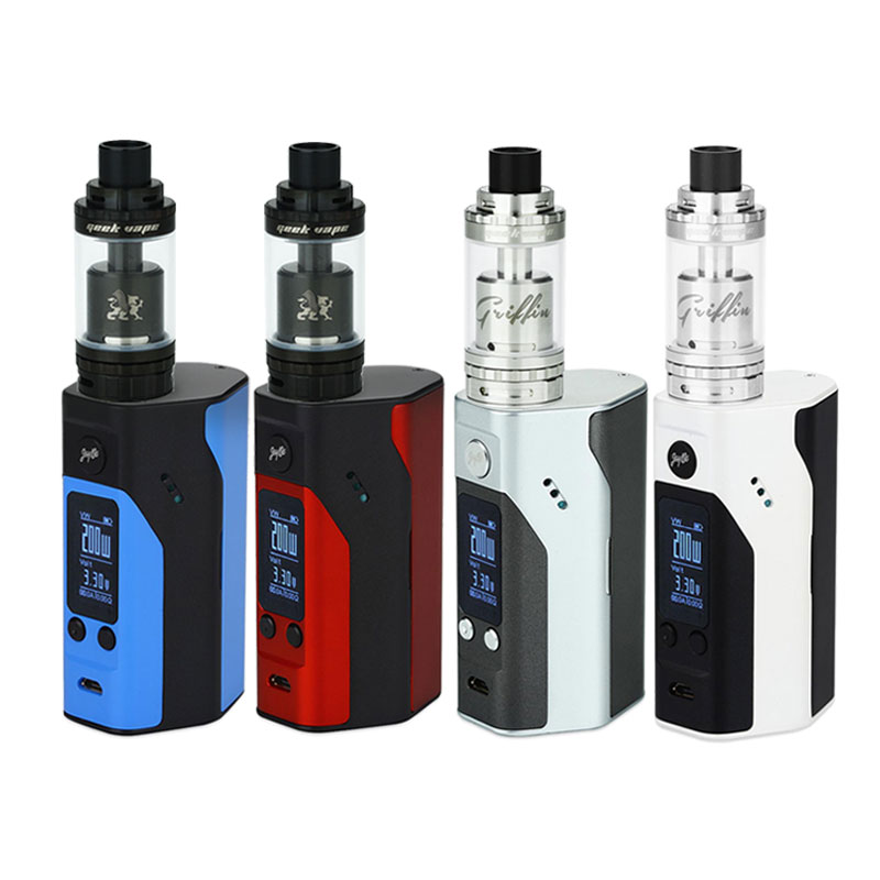 ФОТО Original Wismec RX200S Mod Kit 200W with Geekvape Griffin 25 Plus RTA Tank Atomizer Top and Bottom Airflow E-Cigs vs Rx200s Mod
