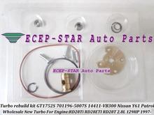 Kit de Reparación de Turbo kits de Reconstrucción GT1752S 701196 701196-5007 S 701196-0001 14411-VB300 Para NISSAN Patrol y61 RD28T RD28ETI 2.8L 129HP