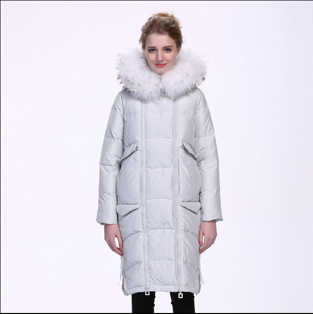 2016 new hot winter Thicken Warm woman Down jacket Coats Parkas Outerwear Luxury Hooded fox Fur collar long plus size XL Cold 2016 new hot winter thicken warm woman down jacket coats parkas outerwear hooded fox fur collar luxurious long plus size 3xxxl