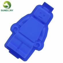 1PC 100% Foodgrade Silicone Mold Super Big Lego Cake Color Blue