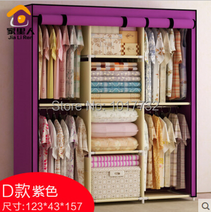 Large Cloth Wardrobe Five Grid Steelframe Hanging Clothes Cabinet Easy Folding Door In Wardrobes From Furniture On Aliexpress Alibaba