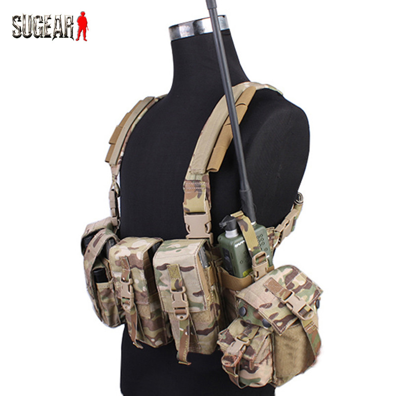 Emerson Molle 500D Tactical Chest Rig Hunting Vest Military Combat Assault Multi-pockets Plate Vest Airsoft CS Wargame Waistcoat