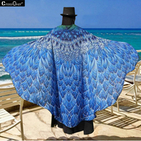 Superfine Fiber Beach Towel 180 Cm Bath Towel Butterfly Shawl Summer Woman Sandy Swimwear Sunbathing Print