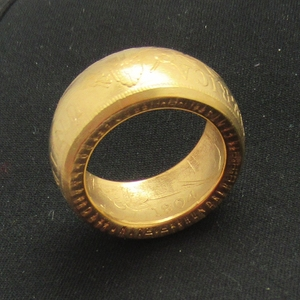 """Coin Ring Handmade from USA 1 Dollar Coin 1804 """"Date"""" Inside of the Ring Real Gold Plated Handcraft US Size 8-16#(China)"""