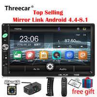 2din Autoradio 7 zoll Touch mirrorlink Android-Player subwoofer MP5 Player Autoradio Bluetooth Rückansicht Kamera band recorder