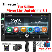 2din Car Radio 7 pulgadas Touch mirrorlink reproductor Android subwoofer MP5 reproductor Autoradio Bluetooth cámara de visión trasera grabadora(China)