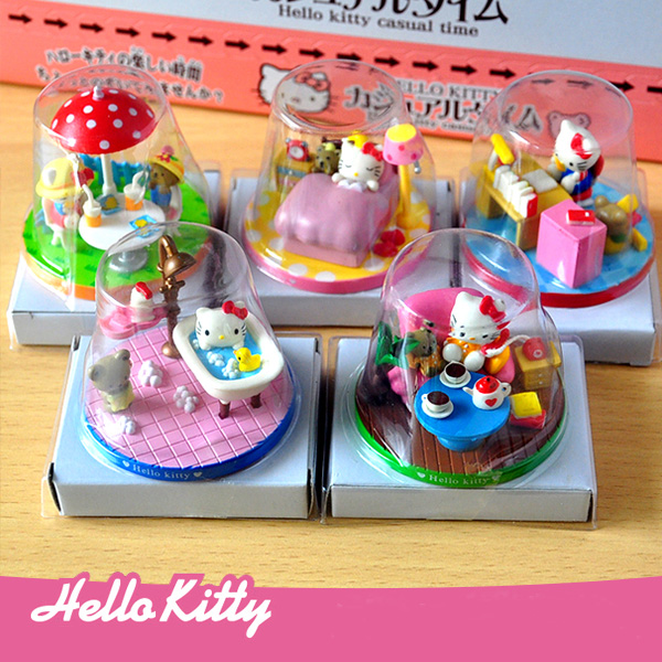 Online Shop 5pcslot Kawaii Mini Hello kitty Life Scenes Action