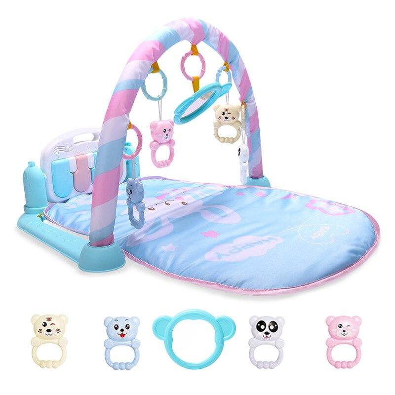 MINOCOOL activité tapis de jeu bébé Gym éducatif Fitness cadre multi-support bébé jouets jeu tapis jouer poser assis jouet Piano miroir - 2