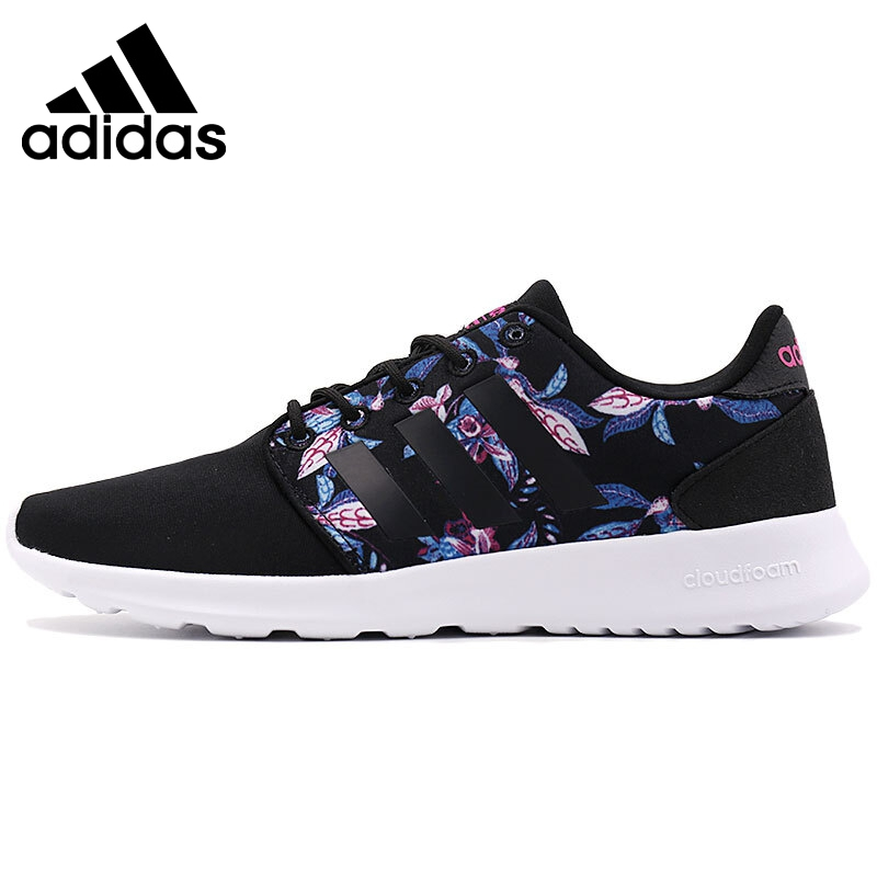 Оригинальный Новое поступление 2017 adidas Neo label cloudfoam кварты Racer W Для женщин Обувь для скейтбординга Спортивная обувь